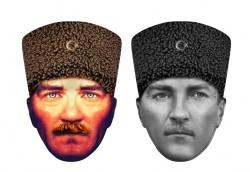 - Atatürk Karton Maske