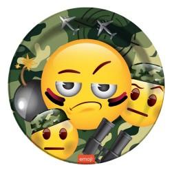 - Kamuflaj Emoji Karton Tabak 23 cm 8'li