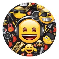 - Genç Emoji Karton Tabak 23 cm 8'li