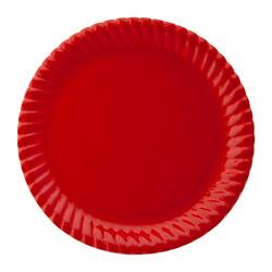- Kırmızı Karton Tabak Kikajoy 8li
