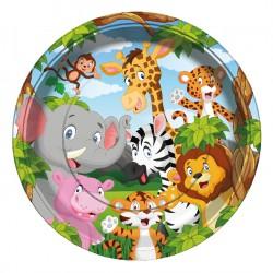 - Safari Karton Tabak 23 cm 8'li