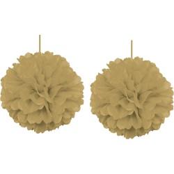 - Kikajoy Altın Pompom Dekor Süs 30 cm 2'li