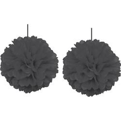 - Kikajoy Siyah Pompom Dekor Süs 30 cm 2'li