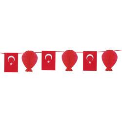 - Türk Bayraklı Sıralı Petek Süs