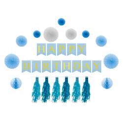 - Mavi Parti Süsleme Seti 18 Parça