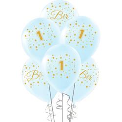 Kikajoy - Kikajoy Altın Bir Yaş Baskılı Mavi Balon 10'lu