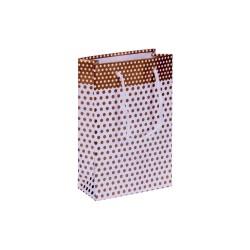 Kikajoy - Altın Puantiyeli Karton Çanta 11x16cm 25 Ad