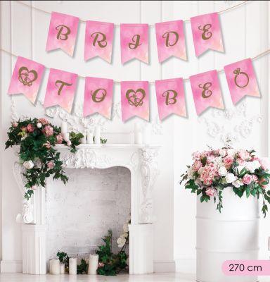 Kikajoy Bride To Be Harf Afiş