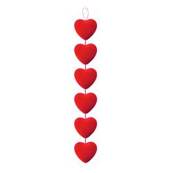 - Kikajoy Dekoratif Kalp Asma Süs 12 cm 6'lı