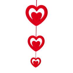 - Kikajoy Dekoratif Sarkıt Kalp Süs 3'lü