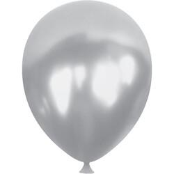Kikajoy - Kikajoy Metalik Gümüş Balon 100lü