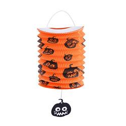 - Kikajoy Halloween Balkabağı Desenli Turuncu Gemici Fener