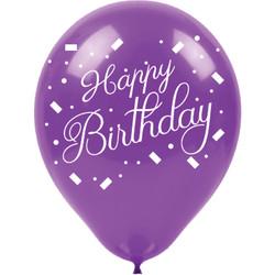 Kikajoy - Kikajoy Happy Birthday Baskılı Rengarenk Balon 100'lü