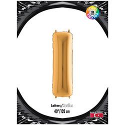 Kikajoy - I Harf Kikajoy Altın Folyo Balon 102 cm (40 inch)