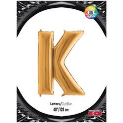 Kikajoy - K Harf Kikajoy Altın Folyo Balon 102 cm (40 inch)