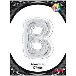 Kikajoy - B Gümüş Harf Folyo Balon 40