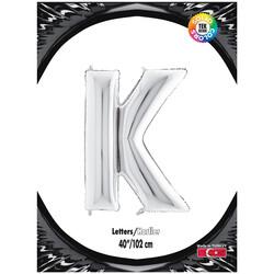 Kikajoy - K Harf Kikajoy Gümüş Folyo Balon 102 cm (40 inch)