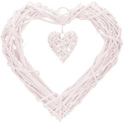 - Kikajoy Kalp Hasır Sarkıt Süs Beyaz 35 cm