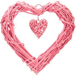 - Kikajoy Kalp Hasır Sarkıt Süs Pembe 35 cm