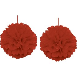 - Kikajoy Kırmızı Ponpon Dekor Süs 30 cm 2'li