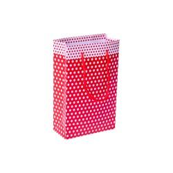 Kikajoy - Kikajoy Kırmızı Puantiyeli Karton Çanta 11x16cm 25'li