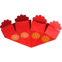 Kikajoy - Kikajoy Kırmızı Şeker Külahı Altın Yaldız Baskılı 24'lü