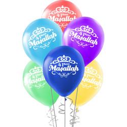 Kikajoy - Kikajoy Maşallah Baskılı Rengarenk Balon 10'lu