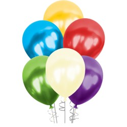 Kikajoy - Karışık Renkli Metalik Balon