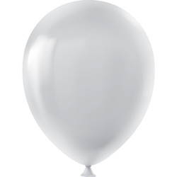Kikajoy - Kikajoy Pastel Gri Balon 100lü