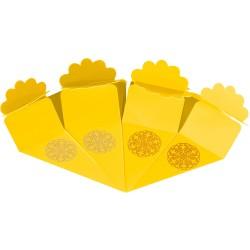 Kikajoy - Kikajoy Sarı Şeker Külahı Altın Yaldız Baskılı 24'lü