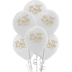 Kikajoy - Kikajoy Team Bride Baskılı Beyaz Balon 10'lu