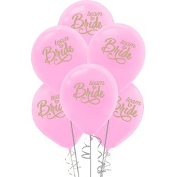 Kikajoy - Kikajoy Team Bride Baskılı Pembe Balon 10'lu