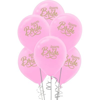 Kikajoy Team Bride Baskılı Pembe Balon 10'lu