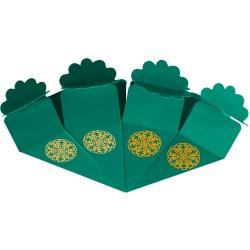 Kikajoy - Kikajoy Yeşil Şeker Külahı Altın Yaldız Baskılı 24'lü