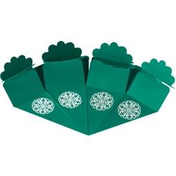 Kikajoy - Kikajoy Yeşil Şeker Külahı Gümüş Yaldız Baskılı 24'lü