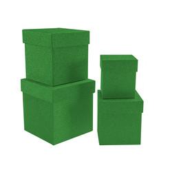 - Kikajoy Yeşil Simli Kare Kutu Seti 4'lü