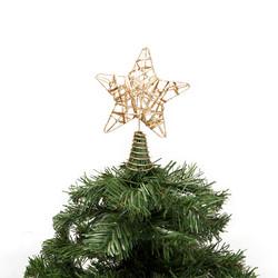 - Kikajoy Yılbaşı Çam Ağacı Altın Simli Tepe Yıldızı
