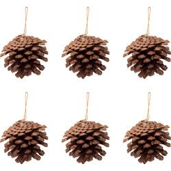 - Kikajoy Yılbaşı Çam Ağacı Süsü Kozalak Kahverengi 6 cm 6'lı