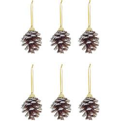 - Kikajoy Yılbaşı Çam Ağacı Süsü Kozalak Karlı 5 cm 6'lı
