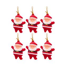 - Kikajoy Yılbaşı Çam Ağacı Süsü Noel Baba 6'lı