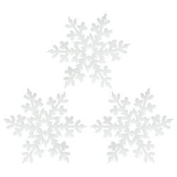 - Kikajoy Yılbaşı Dekoratif Simli Kar Taneleri 3'lü