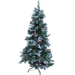 - Kikajoy Yılbaşı Lüks Çam Ağacı Karlı Kozalaklı 180 cm