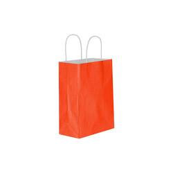 Kikajoy - Kırmızı Büküm Saplı Kraft Çanta 11x15cm