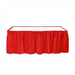 Kikajoy - Kırmızı Plastik Masa Eteği 75x426 cm