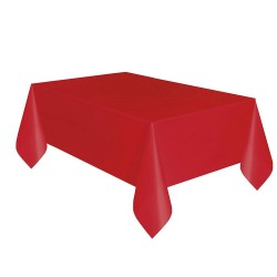 Kikajoy - Kırmızı Plastik Masa Örtüsü 137x270 cm