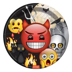 - Korku Emoji Karton Tabak 23 cm 8'li