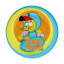 - Kral Şakir Action Karton Tabak 23 cm 8'li