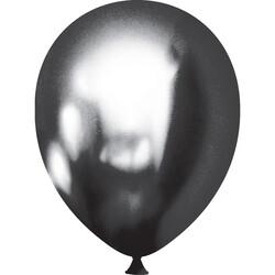 Kikajoy - Kikajoy Krom Grafit Siyah Balon 13cm 50'li