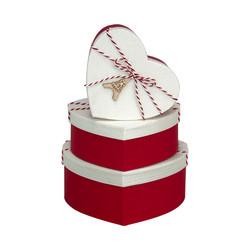 Kikajoy - Kırmızı/Beyaz Kalp Kutu Seti