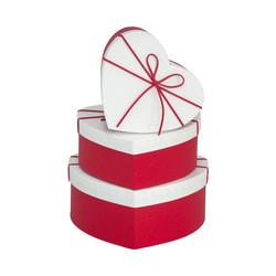 Kikajoy - Beyaz/Kırmızı Kalp Kutu Seti